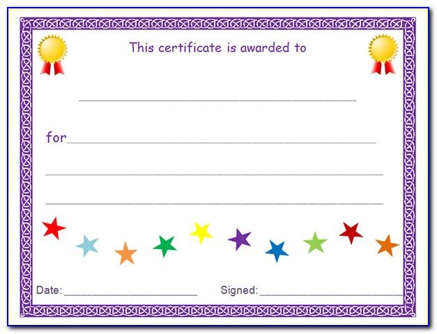 Custom Award Certificate Printing