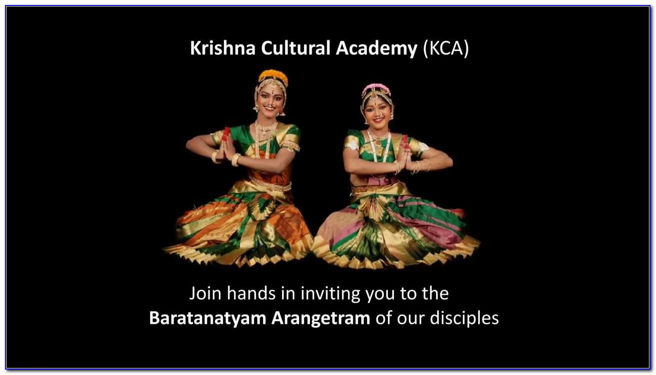 Dance Arangetram Invitation Cards