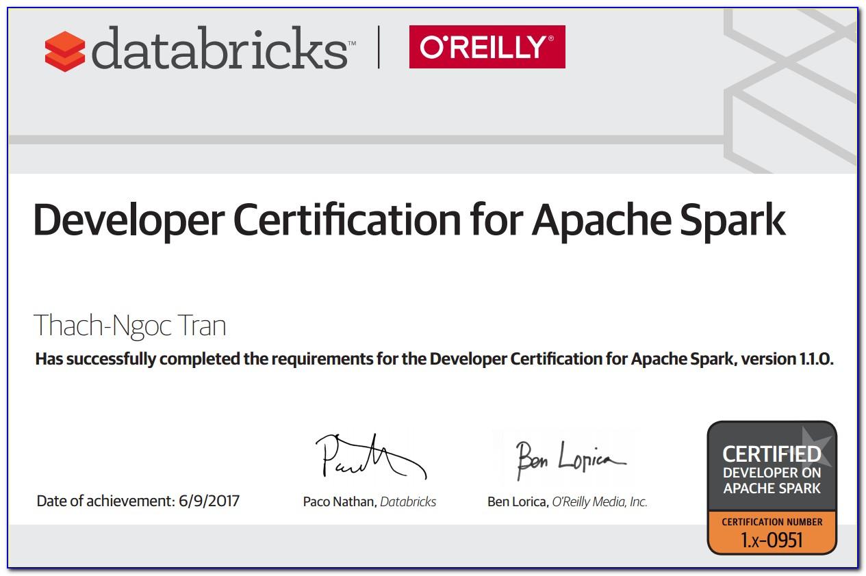 Databricks Spark Certification Dumps