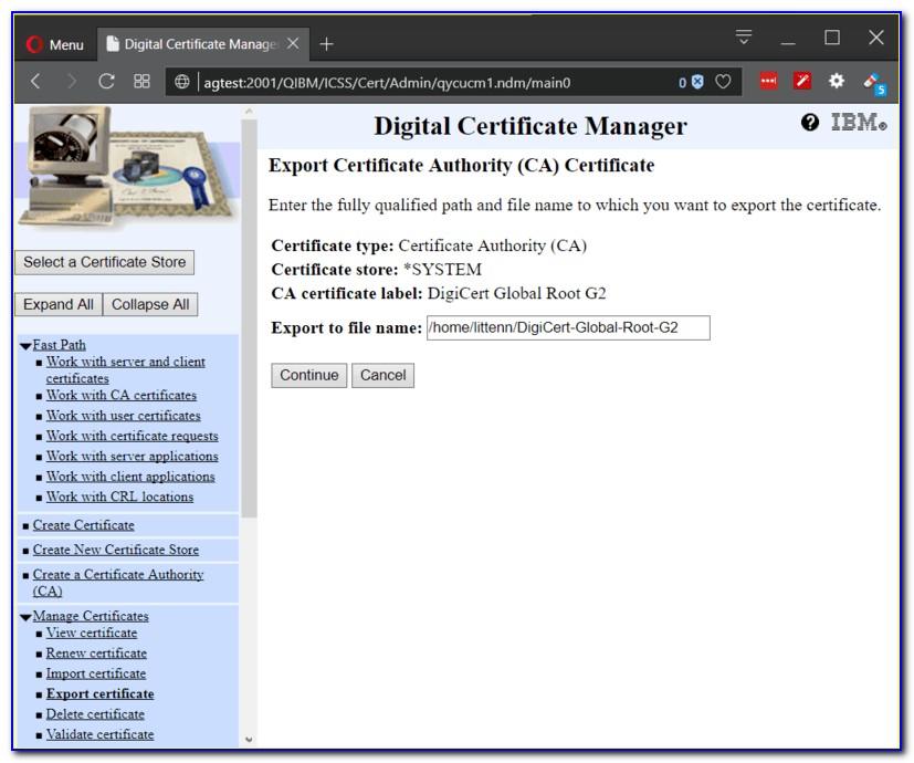 Digicert Root Certificate Expired