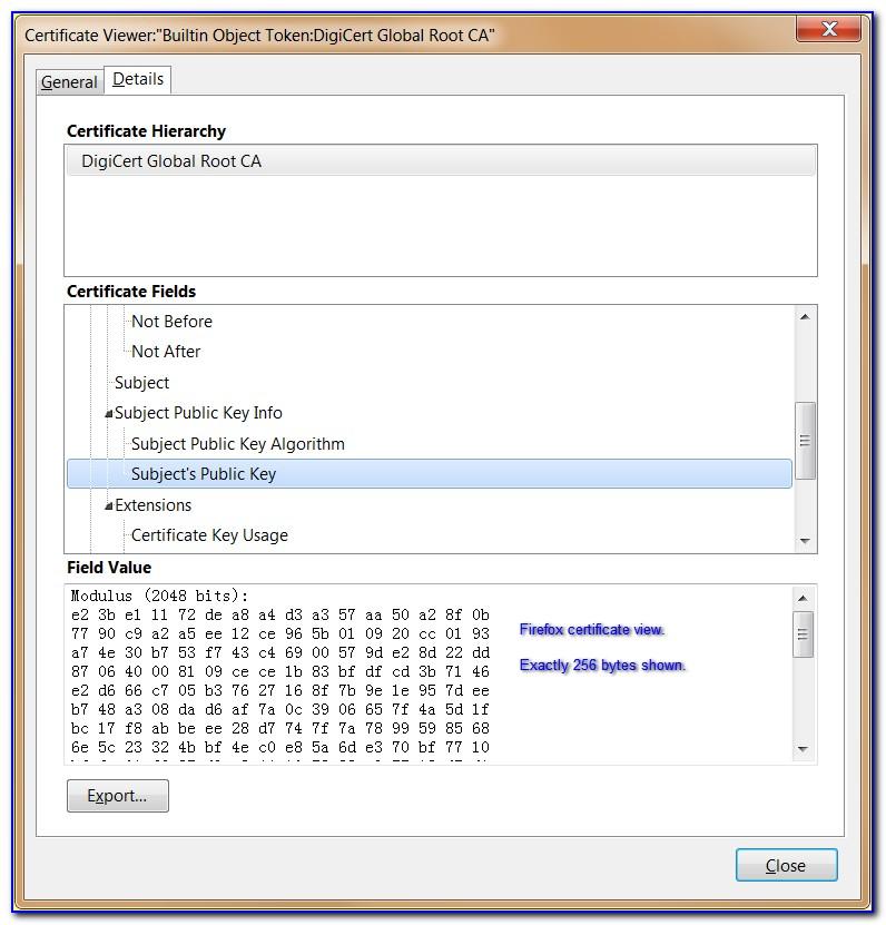 Digicert Root Certificate Mac