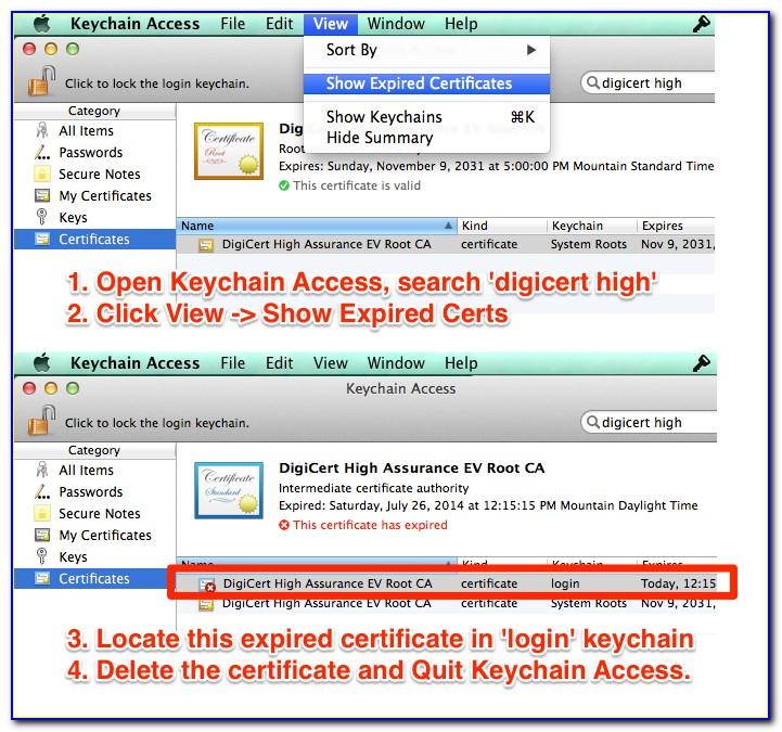 Digicert Root Certificate Sha2
