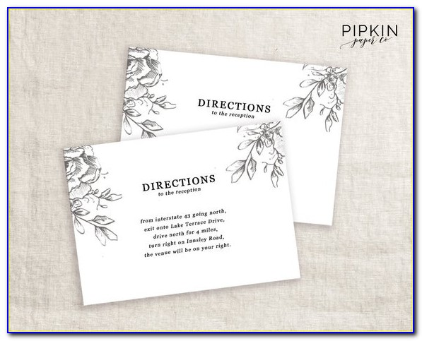Direction Card Template Microsoft Word