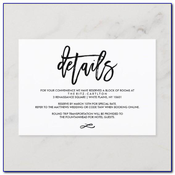 Diy Wedding Enclosure Cards