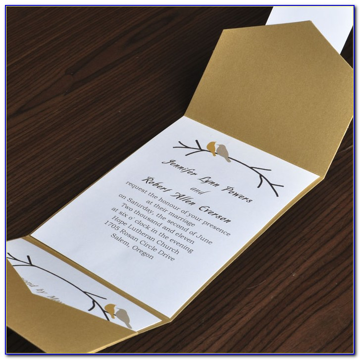 Diy Wedding Invitations Cards And Pockets