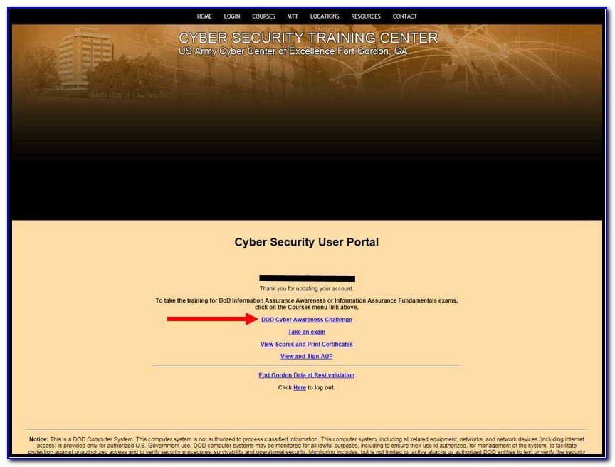 Dod Cyber Awareness Challenge 2019 Certificate