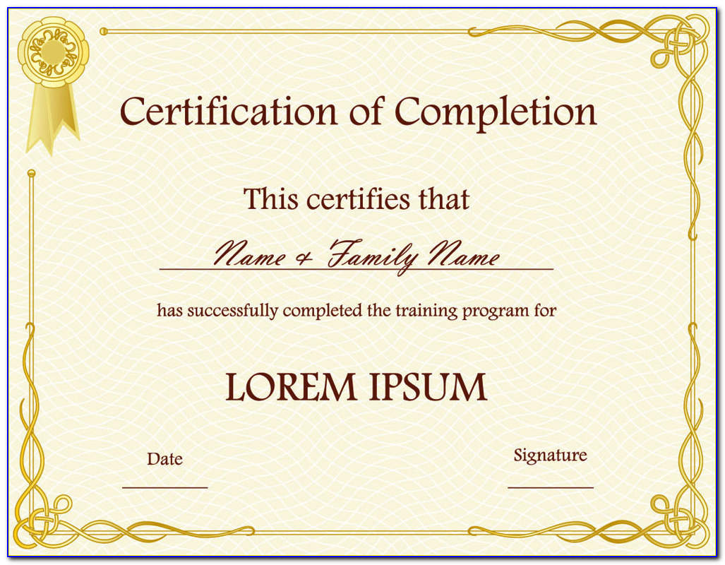 Downloadable Certificate Templates Free