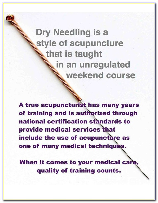 Dry Needling Certification Courses