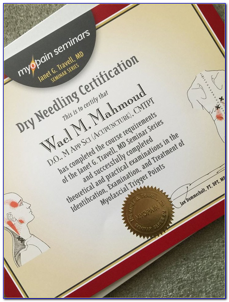 Dry Needling Certification Requirements