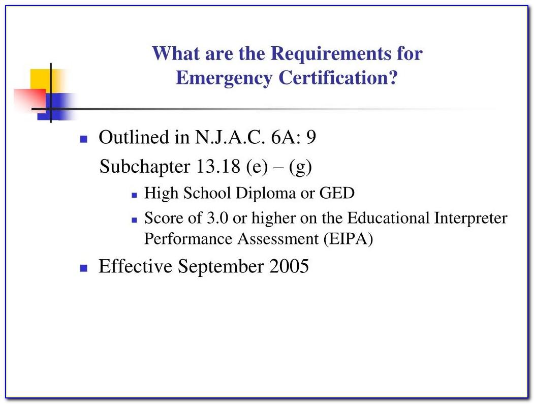 Emt Certification New Jersey