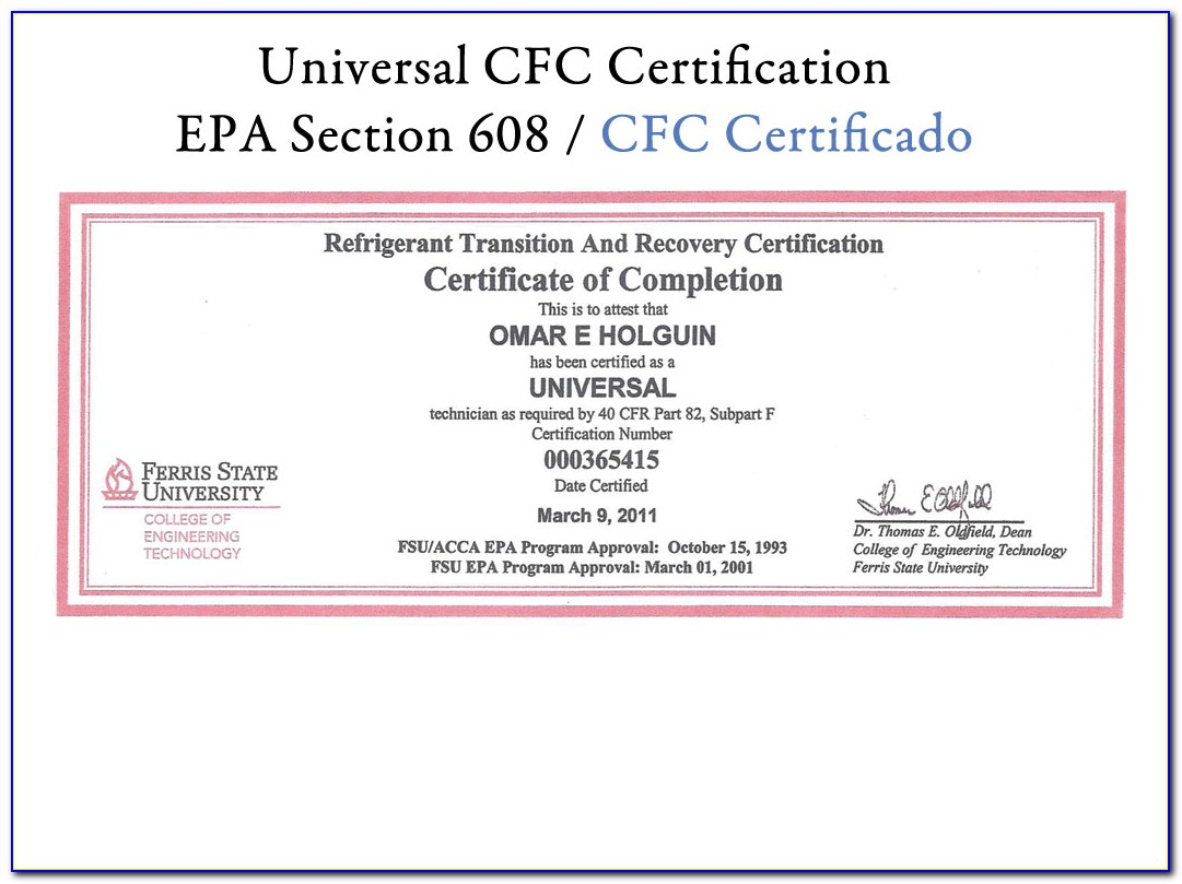 Epa 608 Certification Study Guide