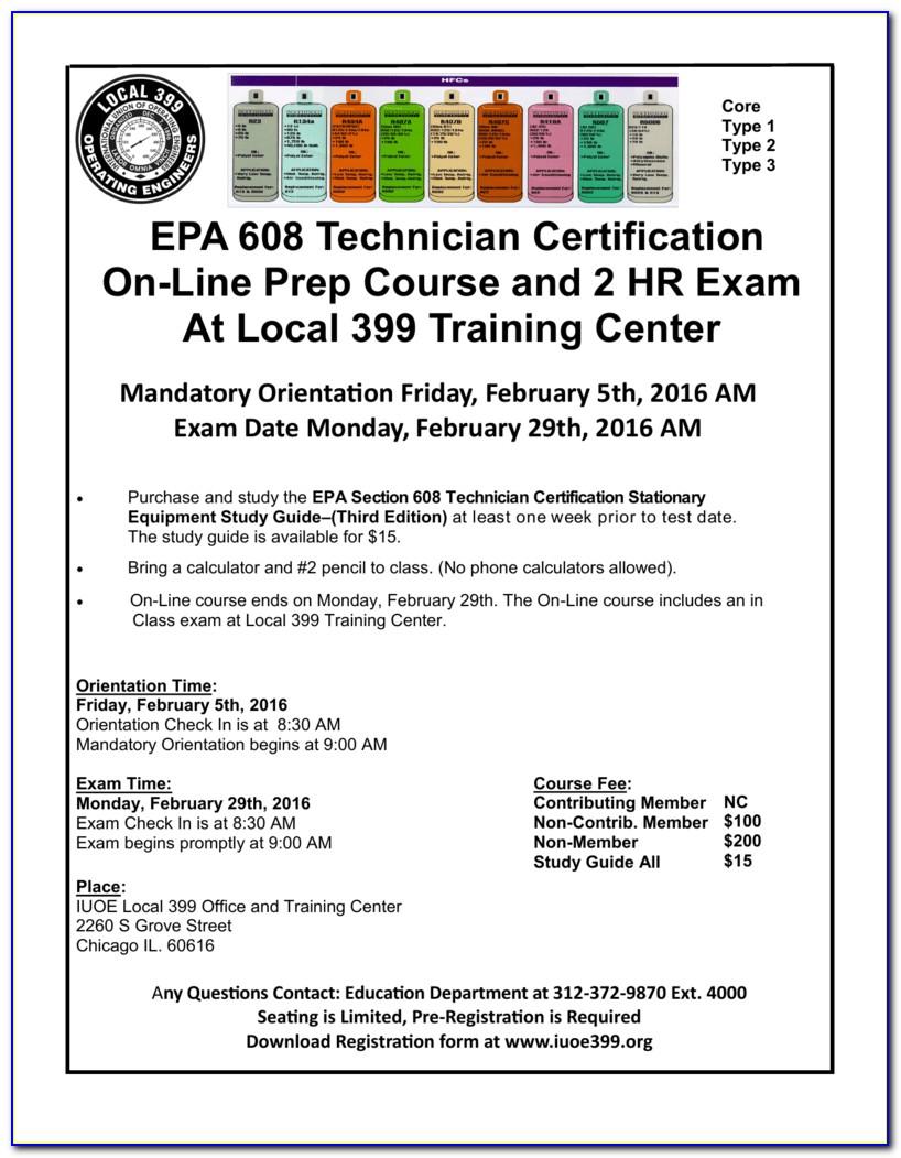 Epa 608 Type 2 Certification Study Guide