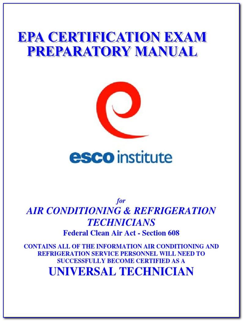 Epa 608 Universal Certification Study Guide