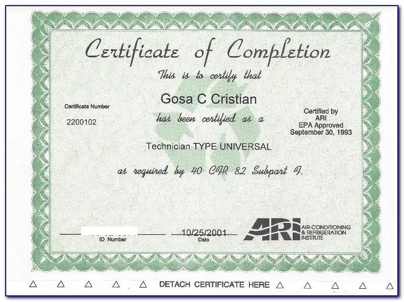 Epa Refrigerant Certification Lookup