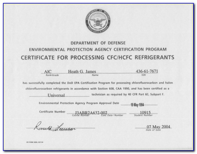 Epa Refrigerant Certification Study Guide