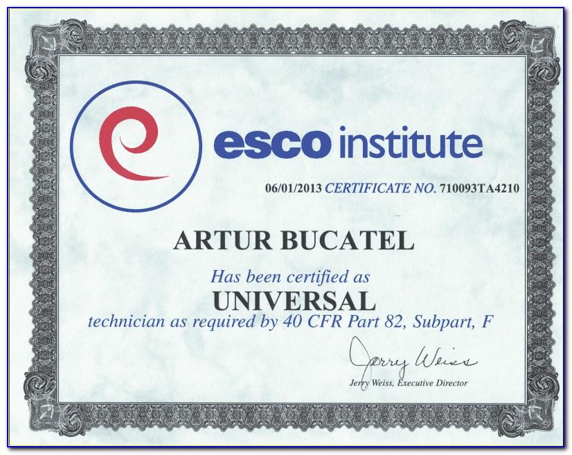 Epa Refrigerant Certification Type 1