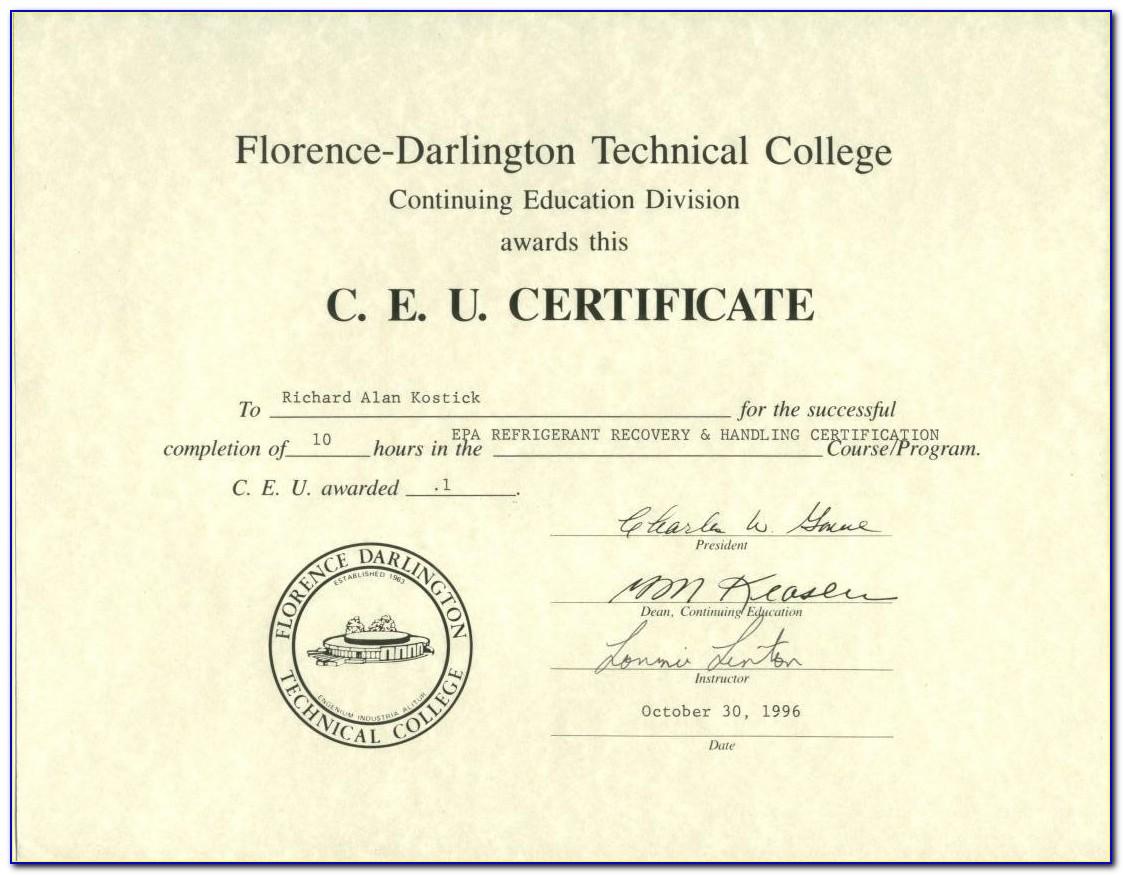 Epa Refrigerant Certification Type 2