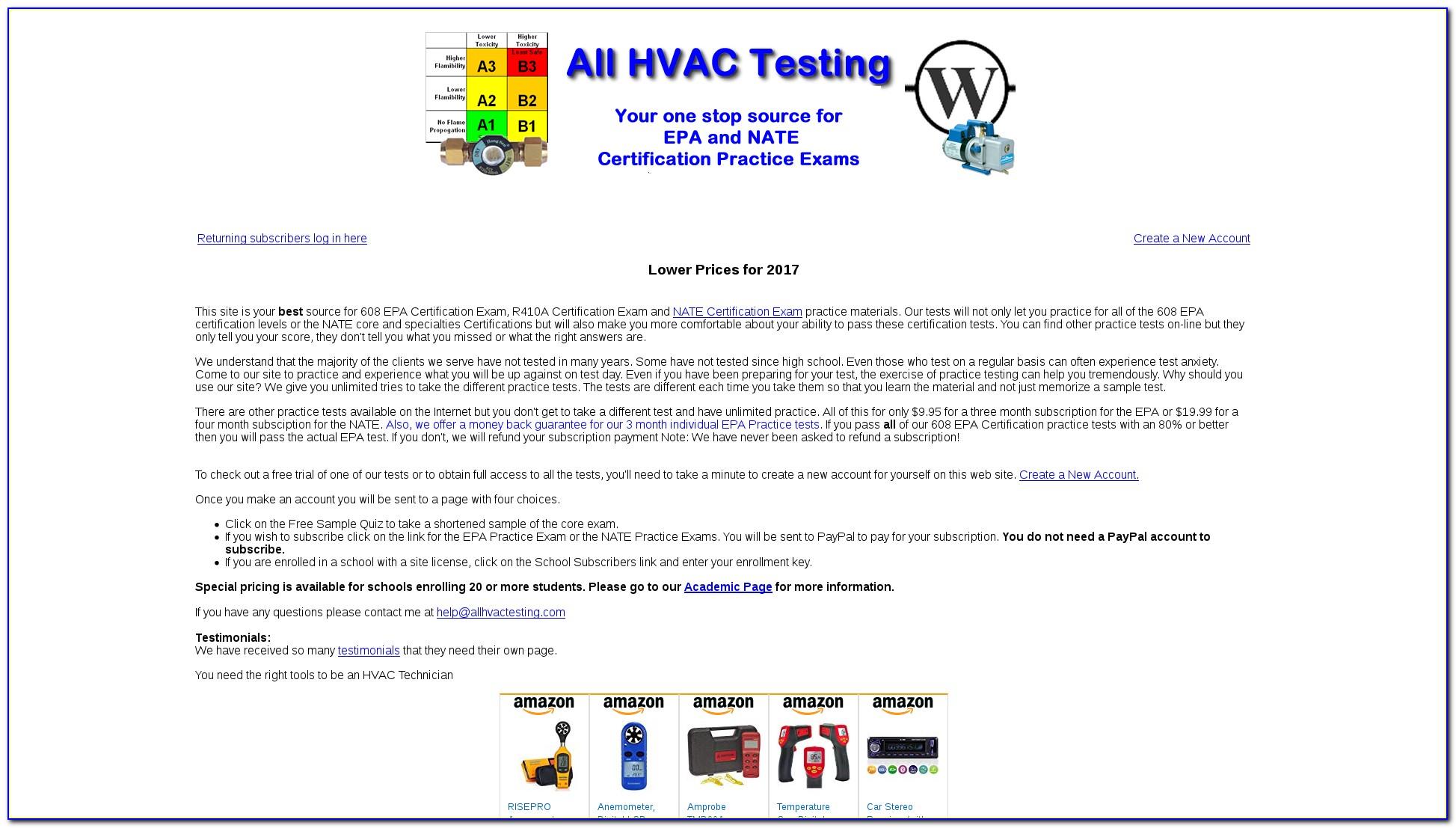 Epa Section 608 Technician Certification Study Guide