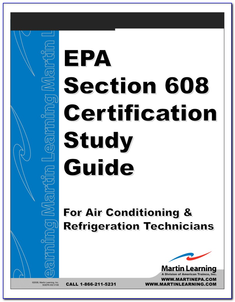Epa Section 608 Universal Certification Study Guide