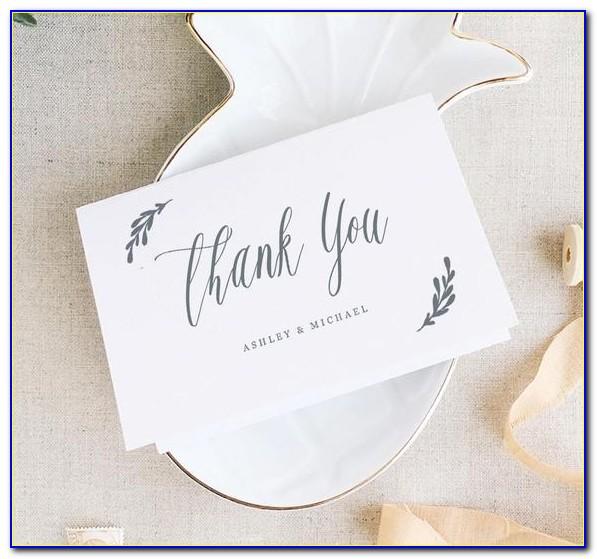 Etsy Personalised Wedding Thank You Cards