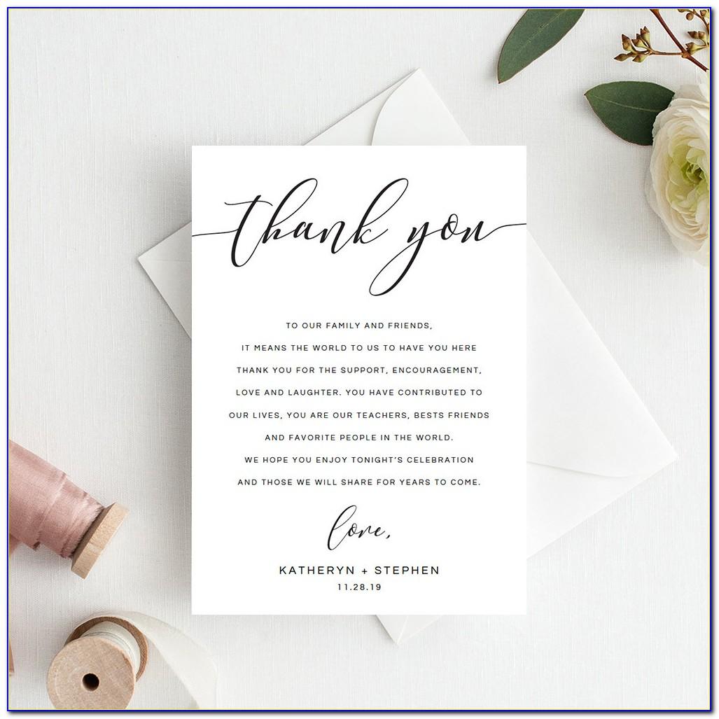 Etsy Uk Wedding Thank You Cards