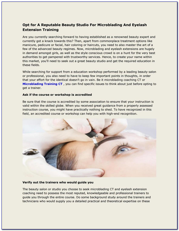 Eyelash Extension Certification Training Az