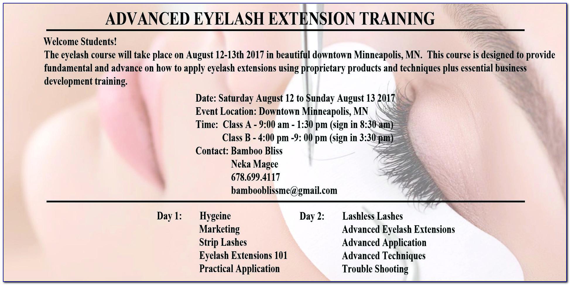 Eyelash Extensions Certification Training Cleveland Ohio