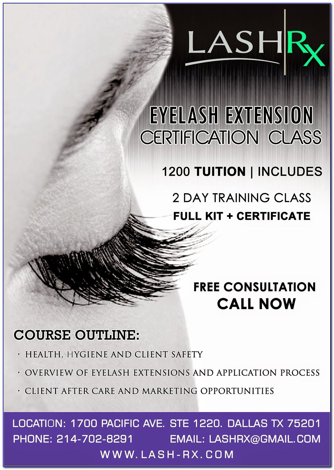 Eyelash Extensions Certification Training Ohio