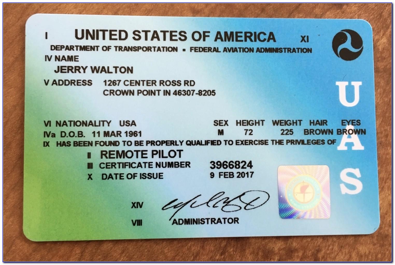Faa Remote Pilot Certificate Expiration
