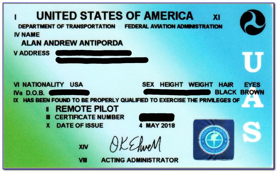 Faa Remote Pilot Certificate (part 107)