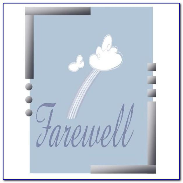 Farewell Card Template Free Download
