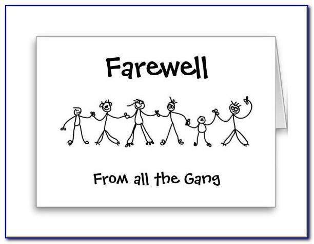 Farewell Card Template Microsoft Word