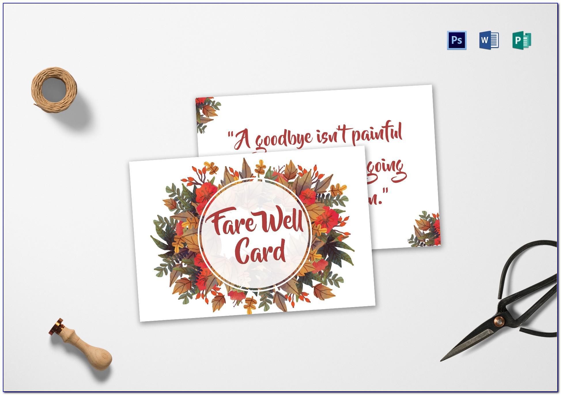 Farewell Card Template Photoshop