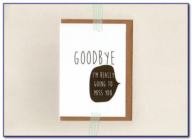 Farewell Card Template Powerpoint