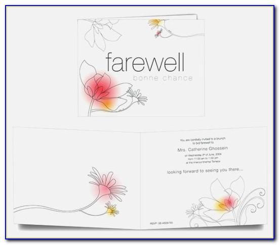 Farewell Card Template Vector