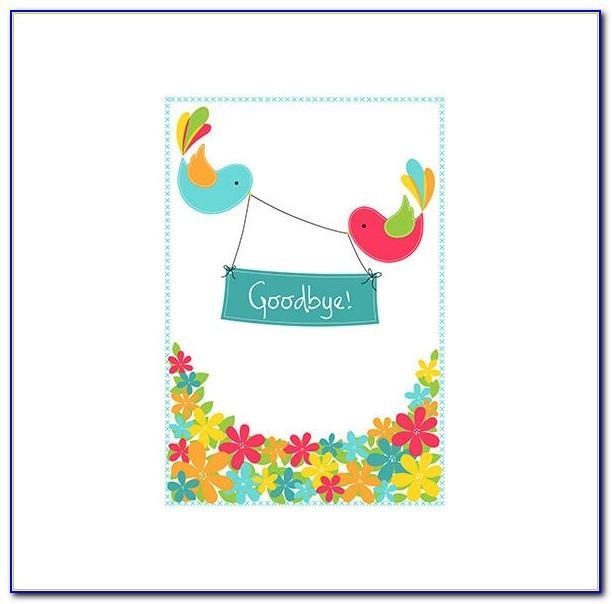 Farewell Card Template Word Free