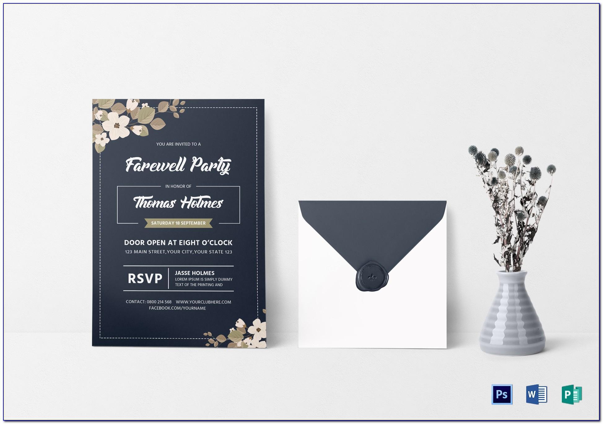 Farewell Card Template Word