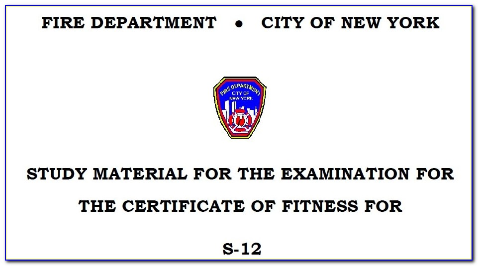 Fdny Certificate Of Fitness Air Compressor
