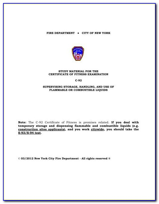 Fdny Certificate Of Fitness F01