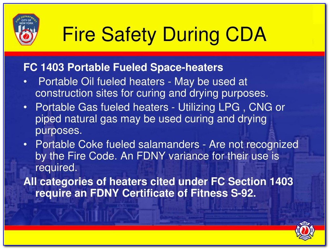 Fdny Certificate Of Fitness P98
