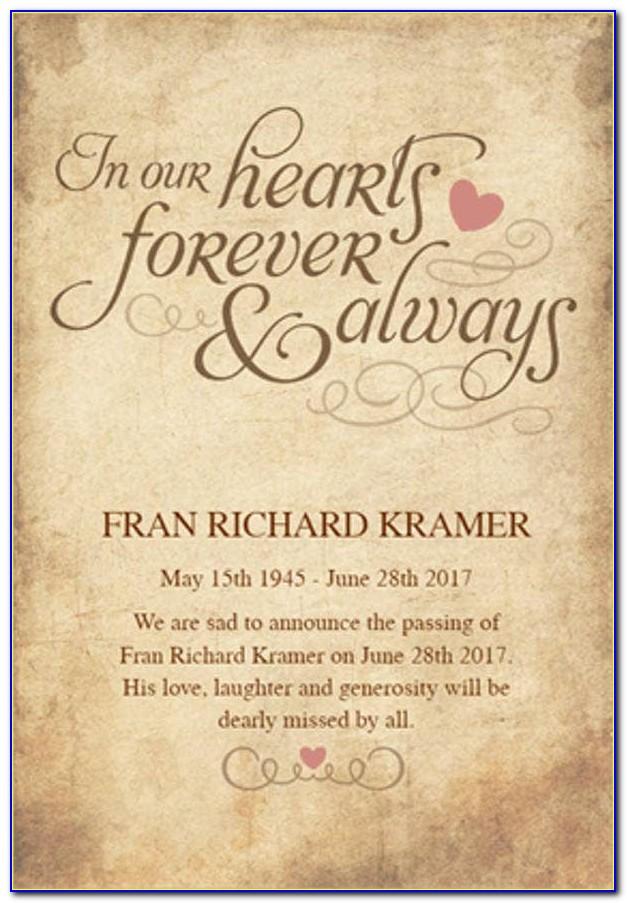 First Death Anniversary Invitation Card Ecards