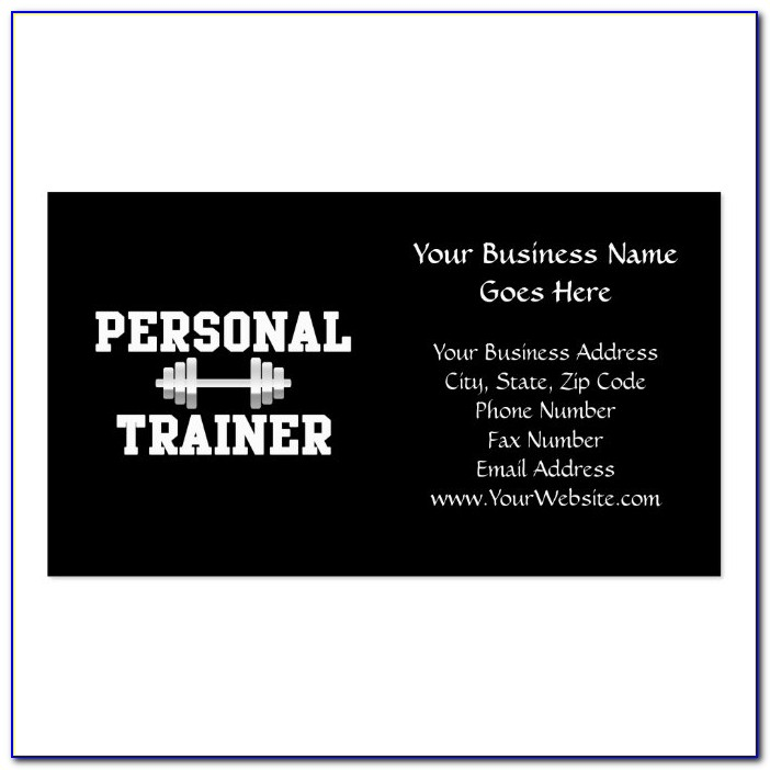 Fitness Trainer Business Card Templates