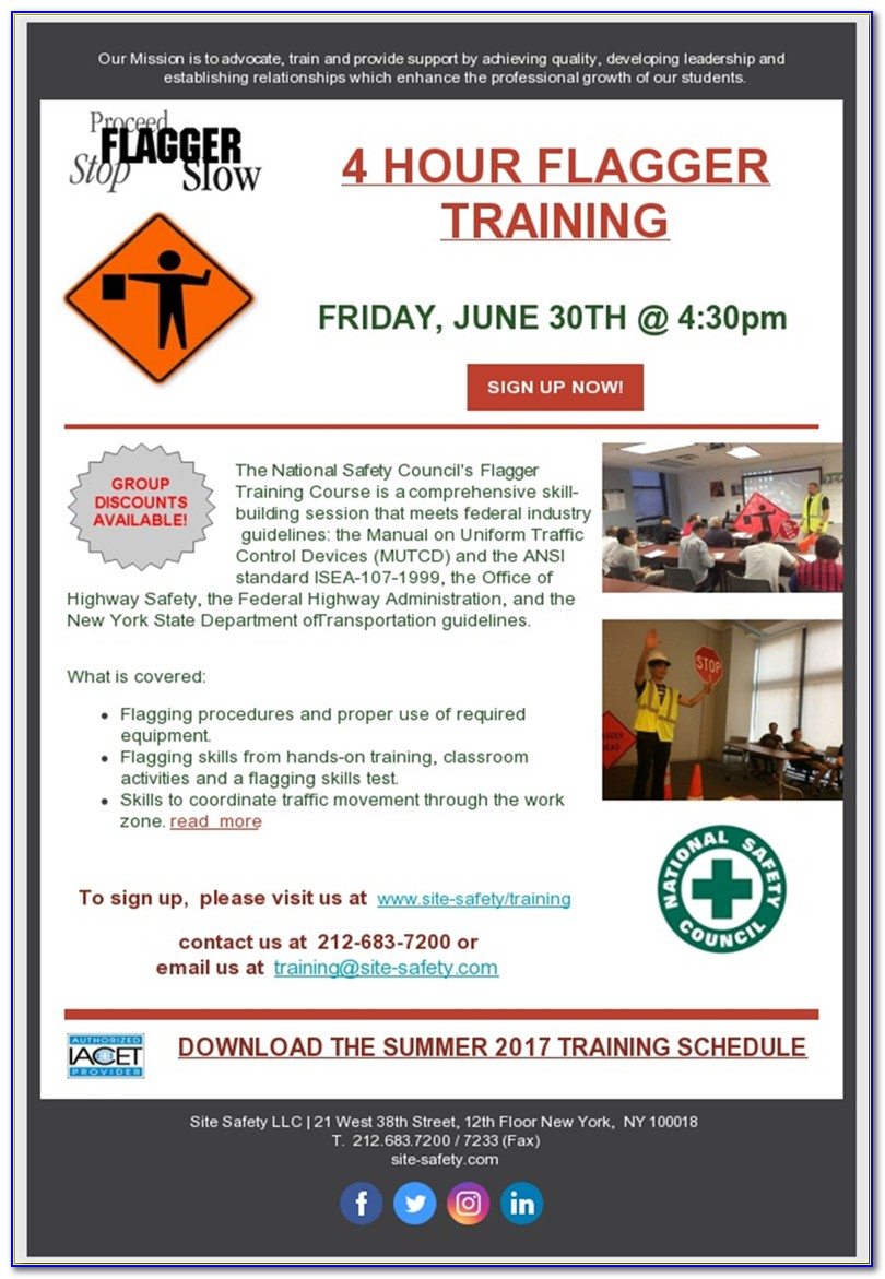 Flagger Certification Classes In Chicago