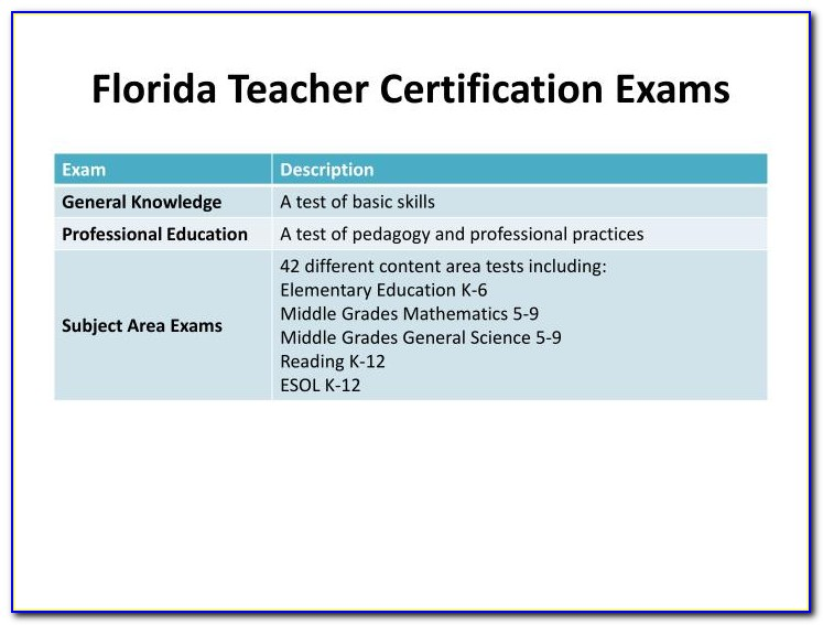 Fldoe Teacher Certification Renewal