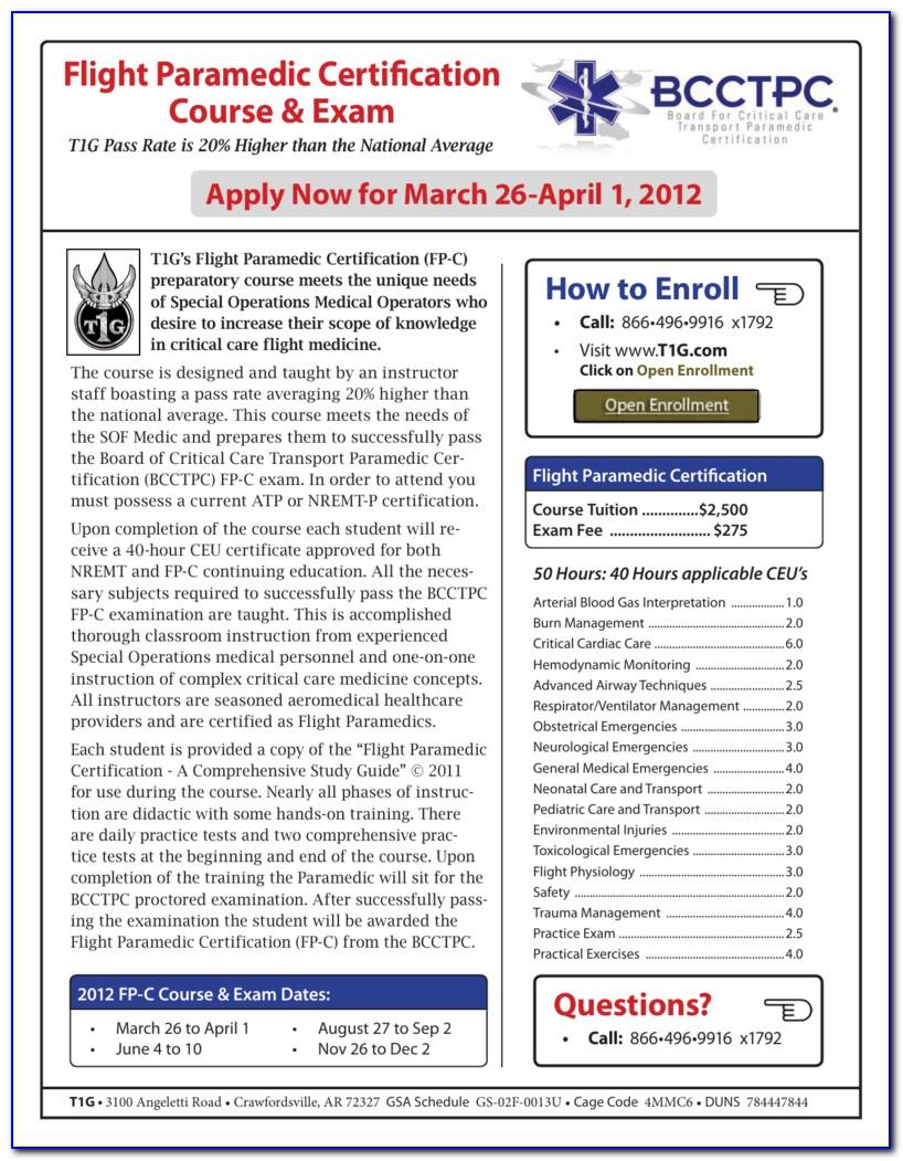 Flight Paramedic Certification Course