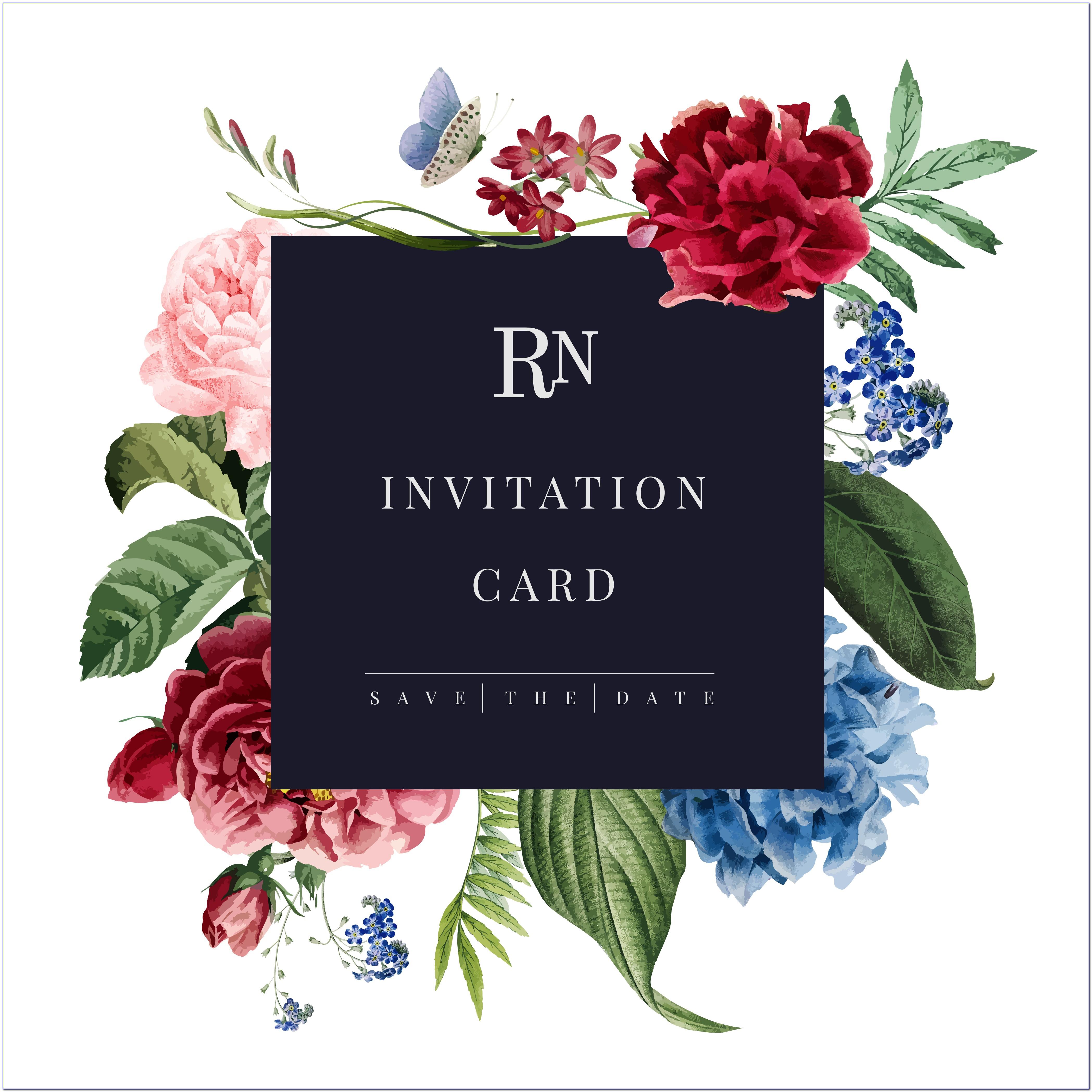 Floral Invitation Card Background
