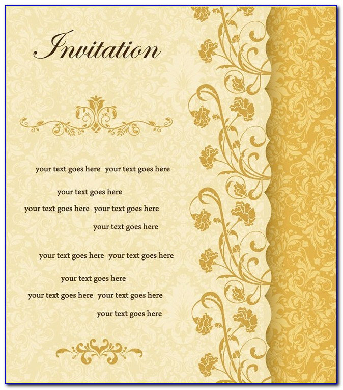 Floral Invitation Card Design