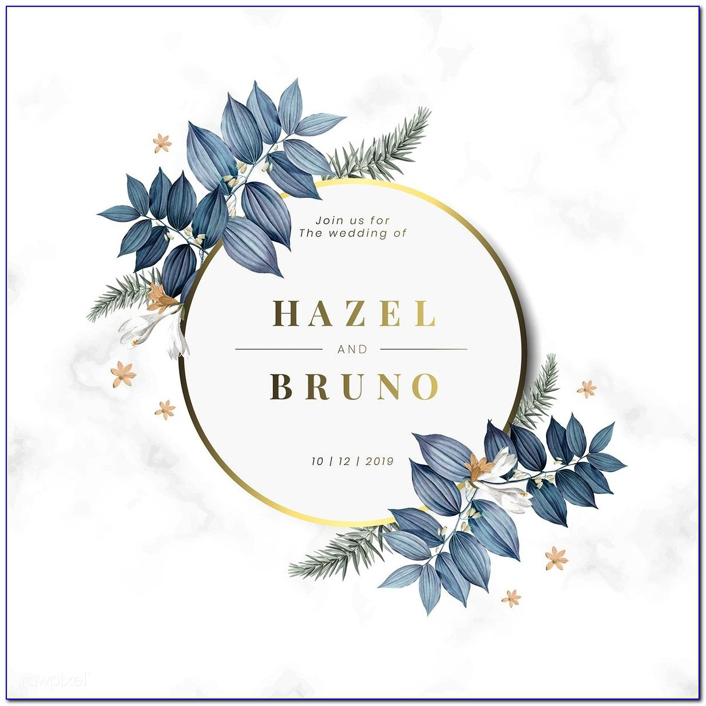 Floral Invitation Card Free