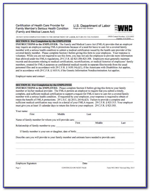 Fmla Certification Form 2020