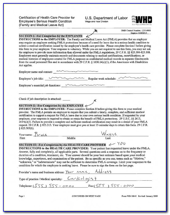 Fmla Certification Form For Foster Care